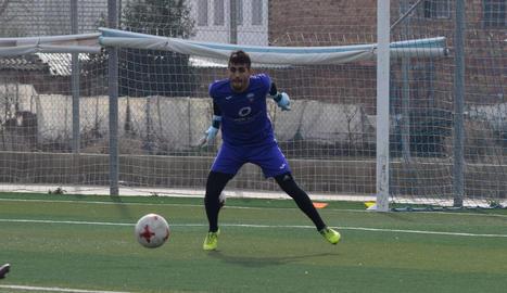 El porter uruguaià Santiago Mele ahir en l'entrenament.
