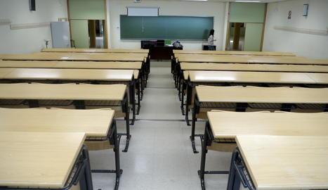 Una aula universitària.