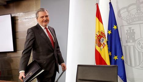 El portaveu de l'Executiu, Íñigo Méndez de Vigo.