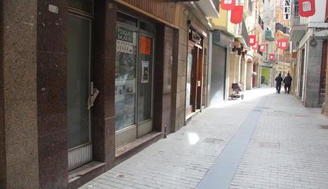Un dels carrers del centre històric de la capital de la Noguera.