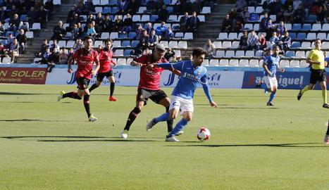 Iván Agudo, en el partit davant del Mallorca.