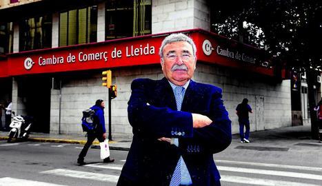 Joan Simó és el capdavant de la Cambra de Lleida des del 1991.