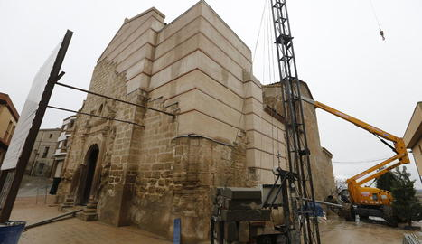 L'aspecte actual de l'església de Sant Pere de Rosselló.