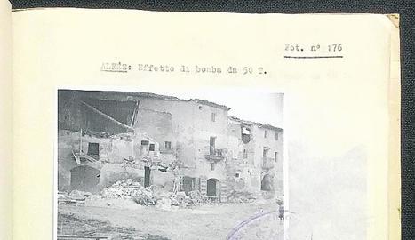 Alfés i Castelldans després dels bombardejos.