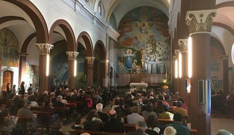 Moment del concert a l'església de la Fuliola.