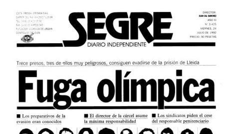 Fuga rècord de tretze presos a Lleida