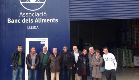 La junta del Banc dels Aliments de Lleida, després de la decisió.