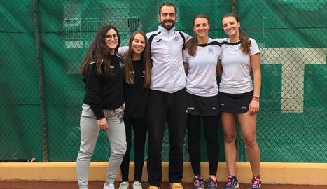 L'equip júnior femení del Club Tennis Lleida, campió de Catalunya