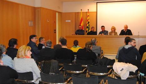 El ple d'ahir a la nit del consell comarcal del Pla d'Urgell.