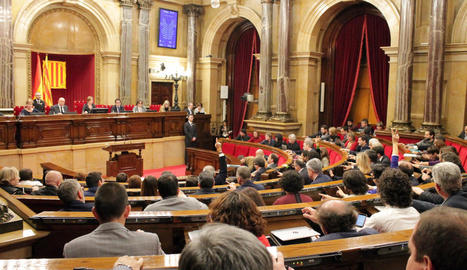 Vista general d'una sessió del Parlament, en la legislatura anterior.