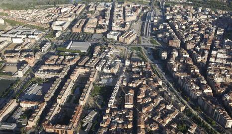 Vista aèria del barri de Pardinyes de Lleida.