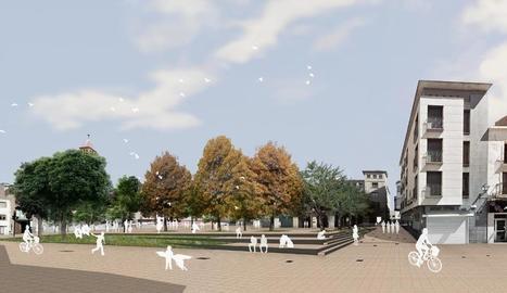 Imatge virtual de la plaça de l'Ajuntament, reformada.