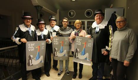 L'acte de presentació del programa i el cartell del Carnval de Lleida.
