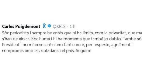 Puigdemont reconeix el missatge però afirma que no es fa enrere
