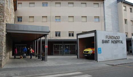 Imatge de la façana de l'hospital de la Seu d'Urgell.