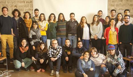 Imatge dels participants en el programa TLN Mobilicat.