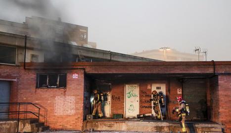 L'incendi va afectar una zona que no està connectada amb l'equipament del mercat.