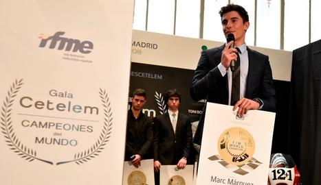 Marc Márquez, aquest djous a la gala dels Campions del Món la Real Federación Motociclista Espanyola (RFME)