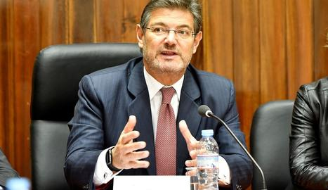 El ministre de Justícia va negar ahir que existeixi un 'pla Moncloa' o pactes secrets.