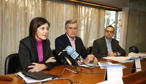 La presidenta dels promotors de Lleida i el de Catalunya.