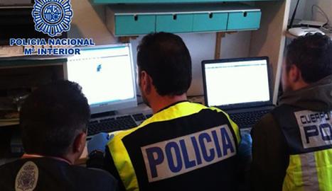 Detingut a Lleida per intercanvi de material pedòfil a internet