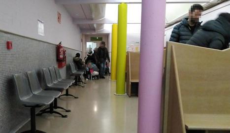 La zona de consultes pediàtriques en un Centre d'Atenció Primària de la capital del Segrià.