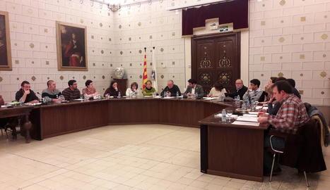 Imatge del ple celebrat ahir a la nit a la Seu d'Urgell.
