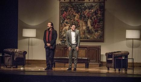 Abel Folk i Roger Coma, diumenge passat al Teatre Ateneu.