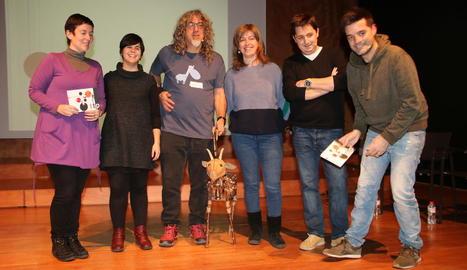 Representants de les companyies lleidatanes, ahir a l'Espai Orfeó.