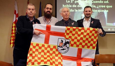 Els promotors de Tabàrnia, ahir en un acte a Madrid.