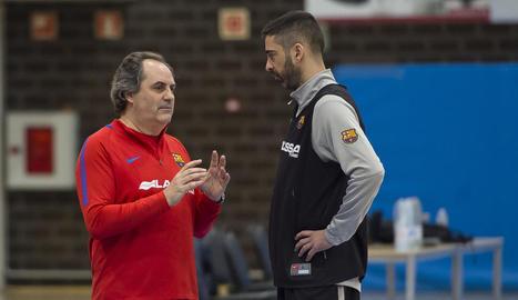 Julbe dirigeix el seu primer entrenament - Alfred Julbe va dirigir ahir la seua primera sessió d'entrenament amb l'equip de bàsquet del FC Barcelona arran de la destitució de Sito Alonso, que es va acomiadar del club a través d'una carta  ...