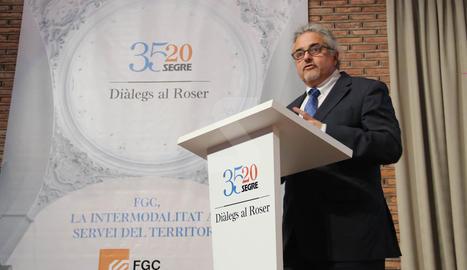 El director de FCG ha participat en la jornada organitzada amb motiu del 35è aniversari del diari SEGRE.