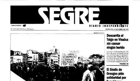 Manifestacions i protestes pel tancament d'Inpacsa