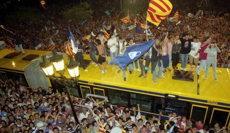 El Lleida toca el cel de la Primera divisió