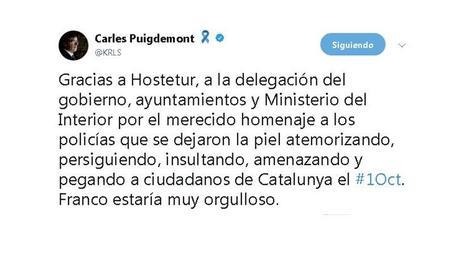 Puigdemont sobre l'homenatge a policies de l'1-O: