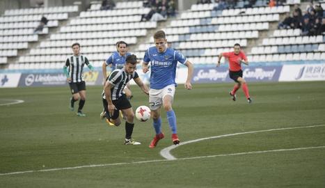 Bojan Radulovic, en un partit amb el Lleida davant del Peralada, el mes de gener passat.