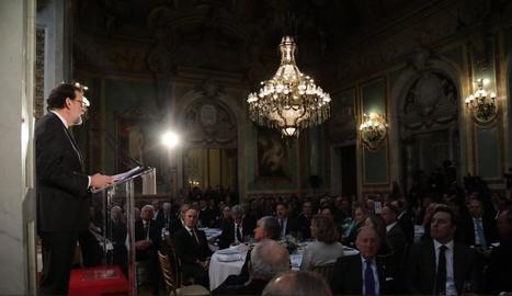 Mariano Rajoy va fer l'anunci en una conferència davant un nombrós grup d'empresaris.