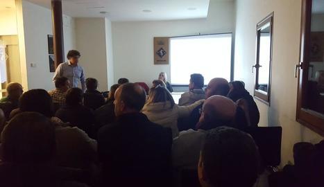 La reunió informativa amb els veïns de Vilaller de dijous.