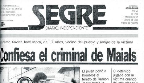 Va portar el taüt de la víctima - Francesc Xavier Jové Mora, al centre en la imatge, portant el taüt de la víctima. Dies després va confessar l'assassinat.