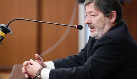 Francisco Javier Guerrero durant la declaració a Sevilla.