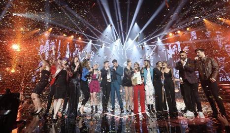Tots els concursants, després de la proclamació d'Amaia com a guanyadora d'aquesta edició.