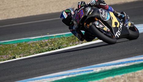 Àlex Màrquez, durant el test oficial d'ahir al circuit de Jerez.
