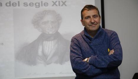 L'historiador de la Universitat de Lleida Quintí Casals, ahir al Museu de Lleida.