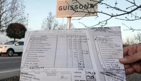 Una de les factures d'una revisió de gas.