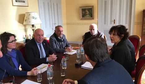 Un moment de la reunió que es va fer ahir.