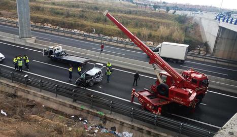 L'accident es va produir el passat dia 3 a la carretera T-11.