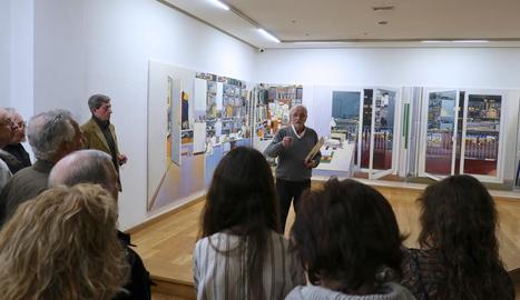 Joaquín Ureña, la setmana passada en la inauguració a la galeria Juan Manuel Lumbreras de Bilbao.
