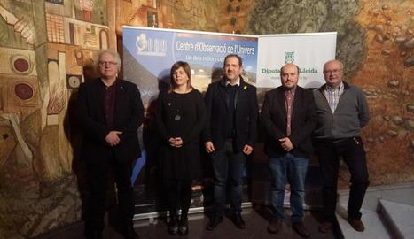 Les autoritats durant la presentació de la temporada del COU.