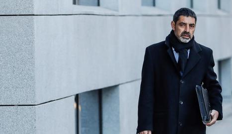 L'exmajor dels Mossos d'Esquadra Josep Lluís Trapero, a l'arribar a l'Audiència Nacional.