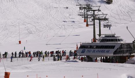 Esquiadors a les pistes de Baquiera Beret aquest cap de setmana.